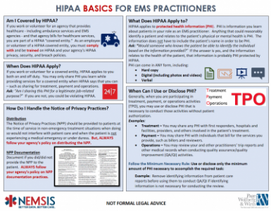 HIPAA BASICS & TIPS for EMS PRACTITIONERS